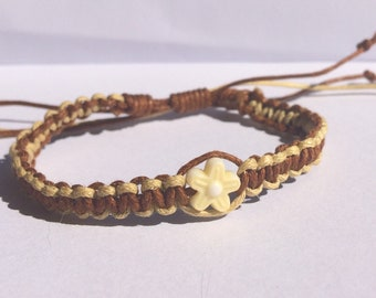 Brown and cream bracelet