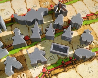 Varied Meeples for board games-board game Meeples (e.g. expansions of Carcassonne)