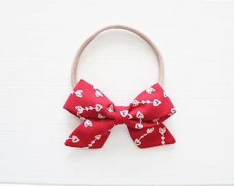 Mini Cupid's Arrow Baby Headband, February Bow of the Month Deal