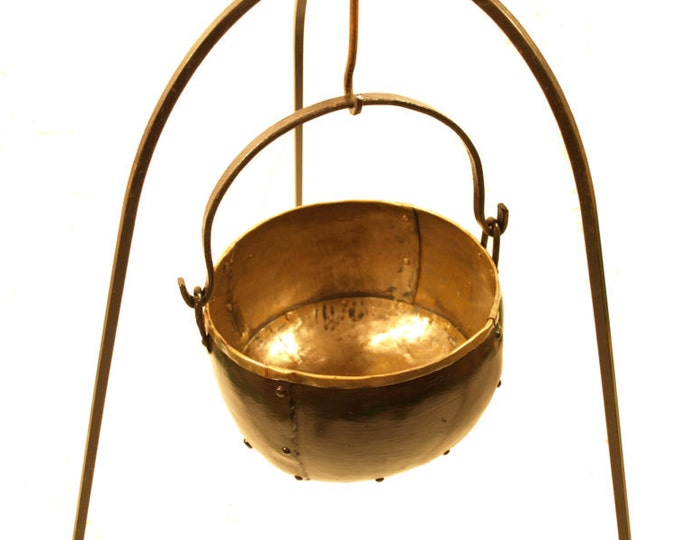 Steel cauldron historical handicraft