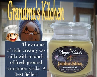 Grandma's Kitchen Scented Jar Candle (16 oz.)!Free Shipping