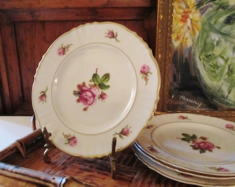 Four Victoria By Syracuse China Bread and Butter Plates, Romantic China, Cottage Chic