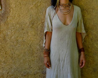Raw Silk Vintage Style Dress