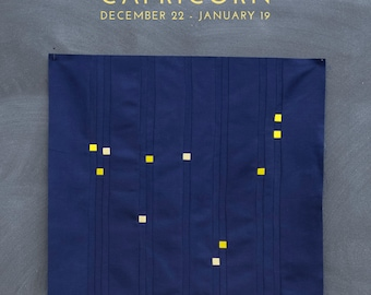 Capricorn Constellation Block PDF pattern - Quilting Patchwork