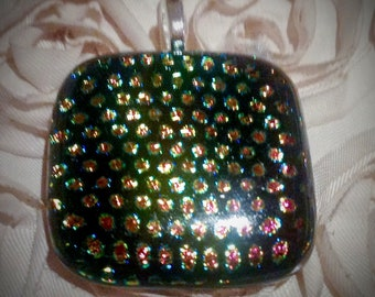 Dichroic glass pendant - handcrafted