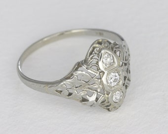 Vintage Edwardian Diamond Ring, 0.14 Ctw
