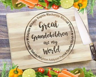 A Grandparent's Board - Personalised Engraved Bamboo Chopping Board