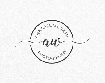 Blogger Logo Initials Logo Circle Logo Photography Logo Round Logo Monogram Logo Shop Blog Watermark Boutique Custom Logo Design #PL27