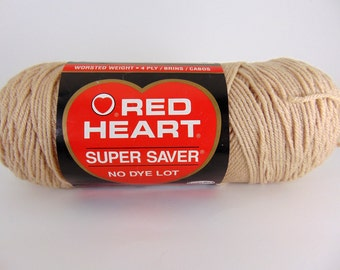 Buff -  Red Heart Super Saver yarn worsted weight 100% acrylic - 2025