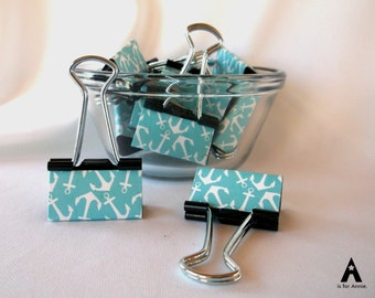 "Binder Clips - ""Ahoy"""
