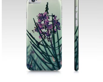 Floral iPhone 6 Case, Pink Wildflowers iPhone 6 Case, Fireweed Art Phone Case, Art Phone Case, Pretty Case For iPhone 6, Fits iPhone 6 / 6S