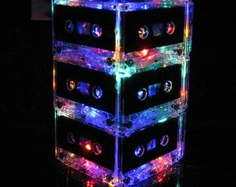 MixTape Night Light Lamp Upcycled EcoFriendly