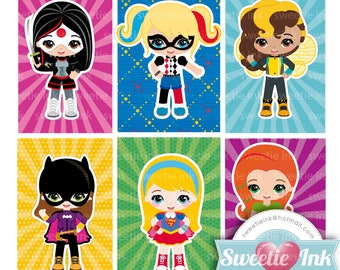 DC Superhero girl clipart kawaii