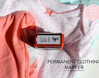 Custom Clothing Stamper, Unique Baby Shower Gift, New Nurse Gift, Uniform Stamper, Name Tag Stamper style 116 - Lovely Little Party