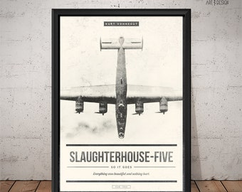 Slaughterhouse-Five Poster - Unique Retro Poster - Book Poster, Literature Print