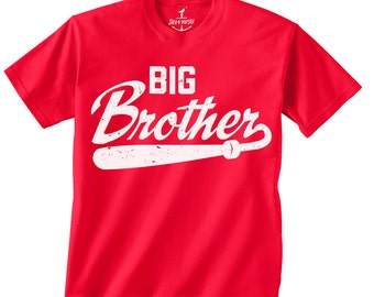 BIG BROTHER -- KIDS T shirt -- (7 color choices) I'm a big brother t shirt for boys Size 2t, 3t, 4t, youth xs, yth sm, skip n whistle