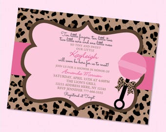 Leopard baby shower etsy leopard pink baby shower invitation girl baby shower invites animal print baby shower filmwisefo Gallery