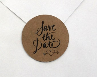 Save the Date STICKERS for sealing envelopes set of 40
