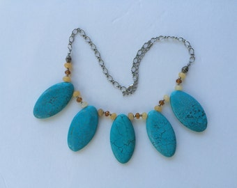 Jewelry Turquoise Tear Drop Necklace