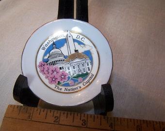 Souvenir Ceramic Plate Washington D.C. Cherry Blossoms Capital Washington Jeffererson Japan