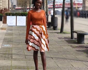 Ankara Midi skirt, African print skirt, high waist skirt, printed midi, Midi Skirt, African skirt, Ankara skirt, Printed skirt, unique Skirt
