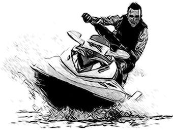 Jet ski t shirt etsy - Jet ski dessin ...