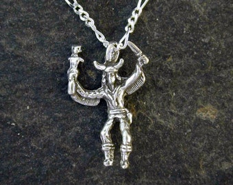 Sterling Silver Eagle Dancer Kachina Pendant on Sterling Silver Chain.