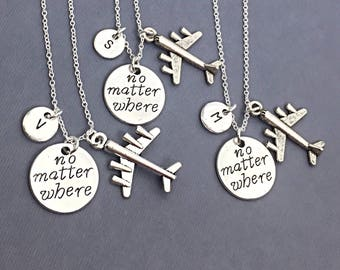 SET OF 3 Custom BFF Necklaces, Friend Charm Jewelry, Gift For Friends, Friendship Necklaces 3,No Matter Where,Custom,Personalize,Distance