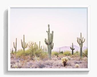Cactus Print, Cactus Wall Art, South Western Art, Arizona Desert, Nature Art, Boho Decor, Digital Download, Large Poster, Wild West, #351