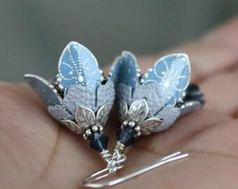 Romantic Flower Earrings, Dangle Earrings, Romantic Gift For Wife, Girlfriend Gift, Anniversary Gift, Mother's Day Gift, Wife Gift