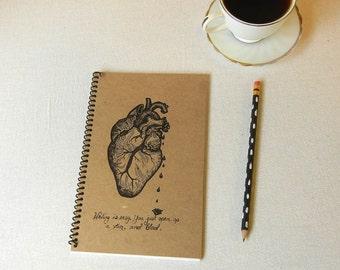 Heart of a Writer Notebook Journal