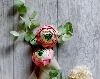 Ranunculus, Mother's Day Gifts, Gifts for Mom, Mother's day Flowers, Origami Paper Flowers, Origami Gifs, Table Decor, Table Setting