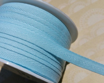 """Light Blue Twill Tape Trim - Sewing Bunting Shipping Packaging - 3/8"""" Wide - 10 Yards"""