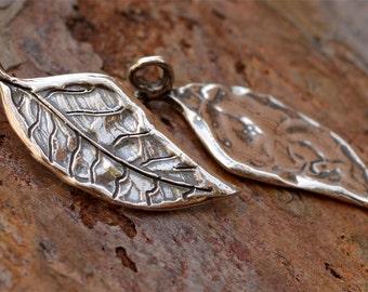 Artisan Sterling Silver Leaf Charm, CH-457