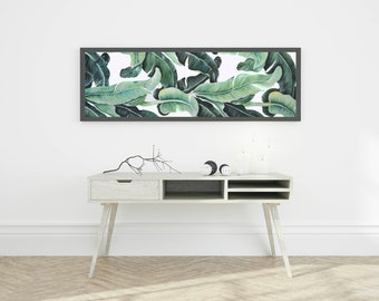 Tropical Leaf Painting - Acrylic, Canvas, Original, Made to Order, Banana Leaf, Wall Decor