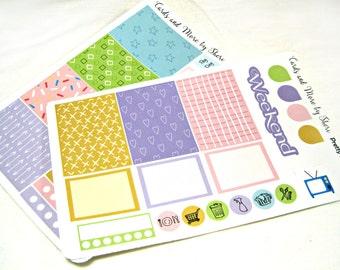 Planner Stickers - Weekly Planner Stickers - Happy Planner Stickers - Day Designer - Functional Stickers - Pastel Patterns