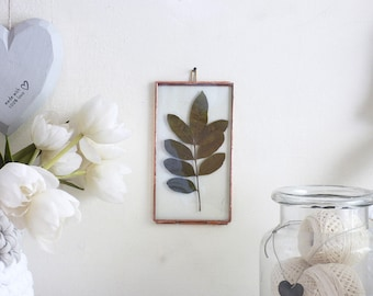 Pressed Flowers Frame,Stained Glass Photo Frame,Photo Display,Pressed Flowers Display,Double Glass Frame,Frame, Preserved Leaves
