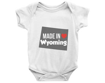 Made in Wyoming Onesie, Made in Wyoming Bodysuit, Wyoming Baby Onesie, Baby Shower Gift, WY State Onesie, Wyoming Born, Local Pride