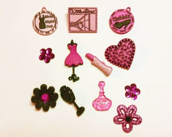 Jesse James Girls Night Out Novelty Buttons Embellishments Scrapbooking