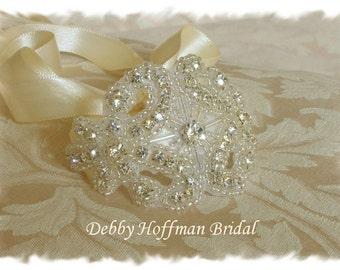 Wedding Bracelet, Bridal Cuff Bracelet, Rhinestone Crystal Cuff Bracelet, Jeweled Cuff Bracelet, Crystal Bridesmaid Bracelet, No. 1166CB