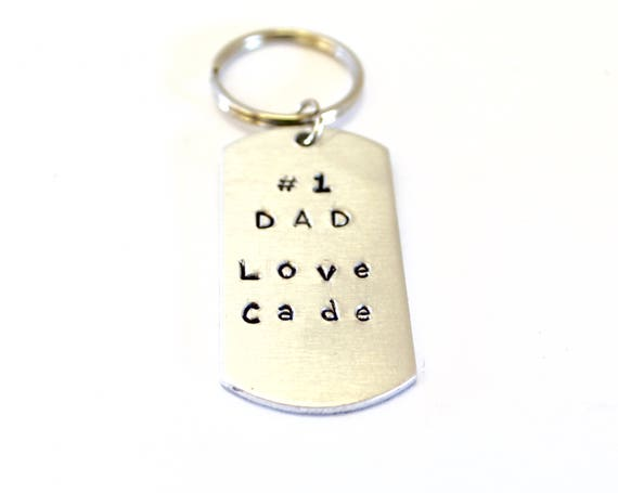 No 1 Dad Personalized Keychain, Fathers Day Gift, Dad Gift, Gift For Him, Husband Gift from Child, Keychain Gift for Dad, Dad Birthday Gift