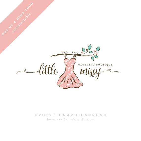 Ooak Baby Clothing Boutique Logo Pink Dress Logo Baby Logo