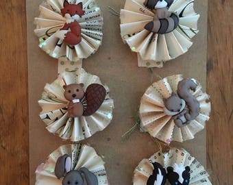Woodland Creatures Ornament Set