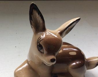 Vintage Deer Figurine,Vintage Fawn,Bambi Figure,Kitsch Deer Figure