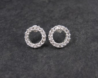 Vintage Sterling Circle of Life Earrings