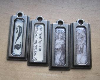 OOAK french market metal pendant