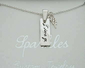 Handwriting Jewelry Signature Necklace in Sterling Silver