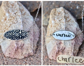 Signature Charm, Real Handwriting Charm, Memorial Jewelry, Handwritten Signature, Signature Charm, Texture Charm Sterling Silver Handwriting