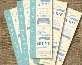 PRINTABLE or PRINTED Once Upon A Time Book Mark | Free Custom Color | Matching Bookmarks | Personalized Book Marks | Baby Shower Book Marks