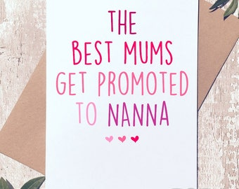 Mother's day card, Card for mum, Card for Nanna, Nanna card, Mothers day Nanna, Birthday card